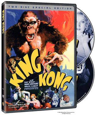 The box art from Warner Home Entertainment's two disc DVD release of King Kong