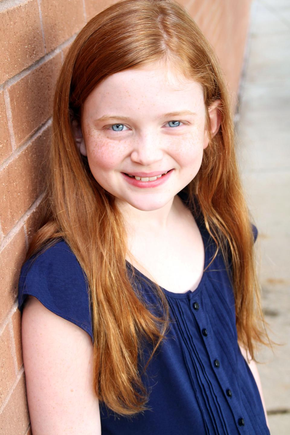 "In this undated publicity image, actress Sadie Sink poses for a photo. Sink and fellow actress Taylor Richardson will share the title role in ""Annie,"" the stage's most famous redhead beginning July 30. They replace Lilla Crawford, whose last performance will be on July 28. (AP Photo/Boneau/Bryan-Brown)"