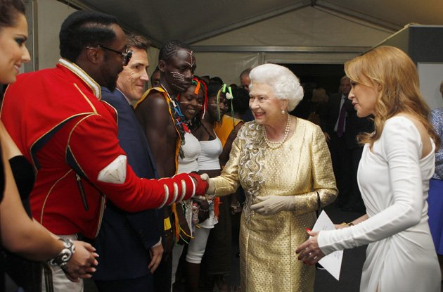 Will.i.am, Queen, backstage, Diamond Jubilee Concert