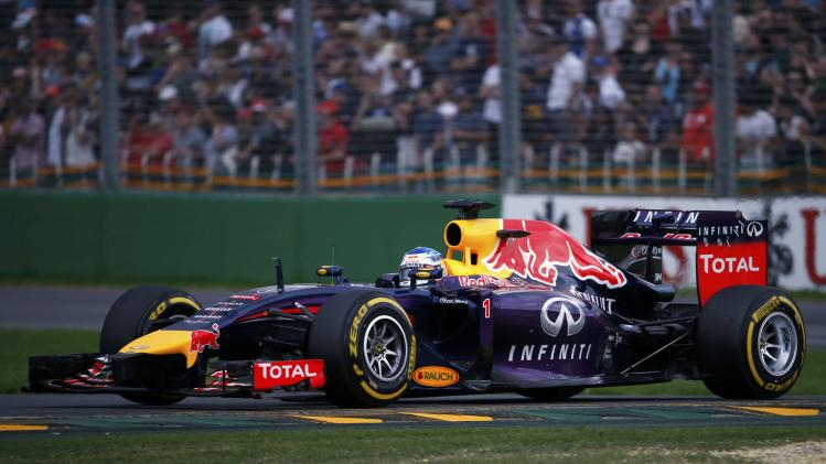 Red Bull Formula One driver Vettel of Germany drives during the qualifying session for the Australian F1 Grand Prix in Melbourne