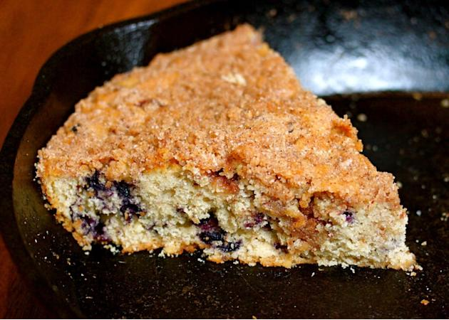 Blueberry Breakfast Skillet Cake
