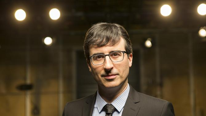 "This undated image released by HBO shows host John Oliver of ""Last Week Tonight with John Oliver,"" airing Sundays at 11 p.m. EDT. (AP Photo/HBO)"