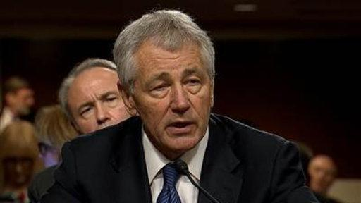Chuck Hagel Grilled by Peers During Senate Hearing