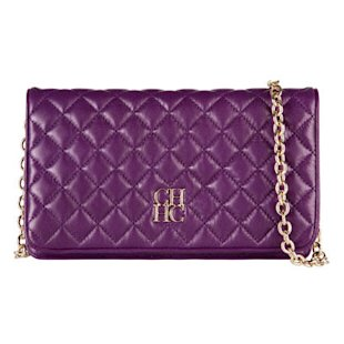 Purple quilted bag by Carolina Herrera
