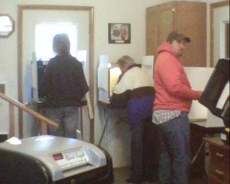 War of Words at Rural Missouri Polling Station