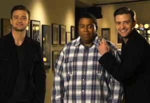 SNL Promo: Justin Timberlake Pulls Quintuple Duty — and (Oops!) He Forgot His Suit and Tie