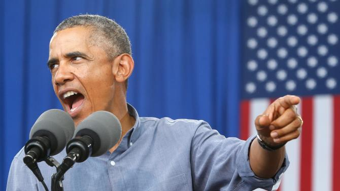 Obama delivers remarks at Laborfest 2014 at Maier Festival Park in Milwaukee, Wisconsin