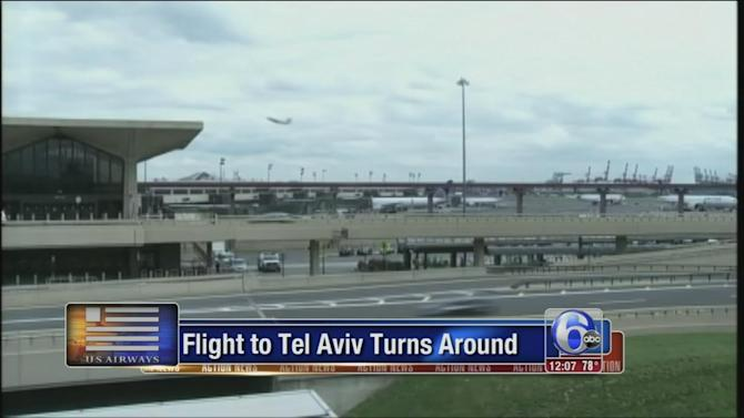 Flight from Philly to Tel Aviv makes unplanned return