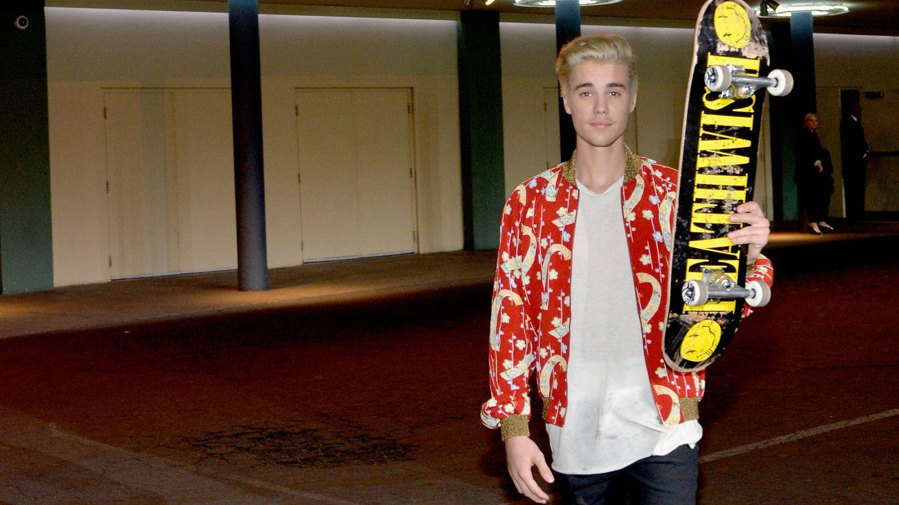 Professional Skateboarder Justin Bieber Brought His Talents to Saint Laurent