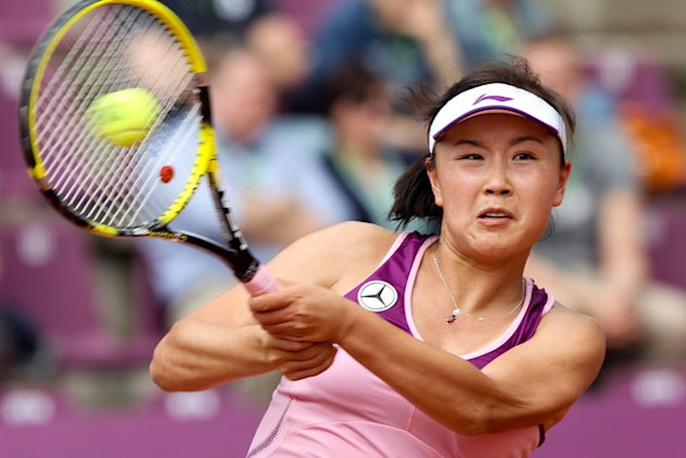 Chinese Shuai Peng Returns AFP/Getty Images