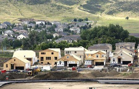 New houses are under construction in a new subdivision in Golden