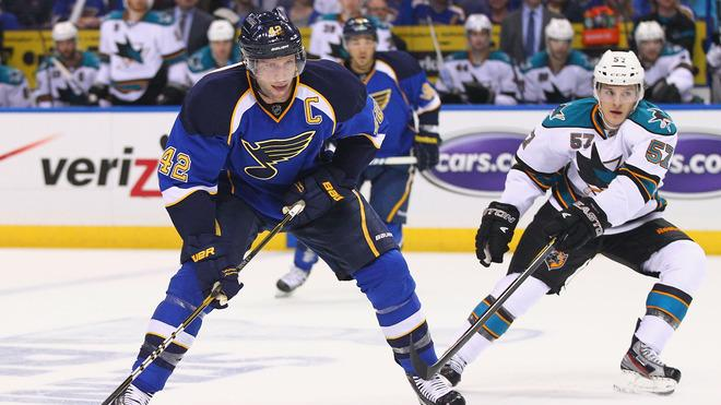 David Backes #42 Of The St. Louis Blues Moves Getty Images