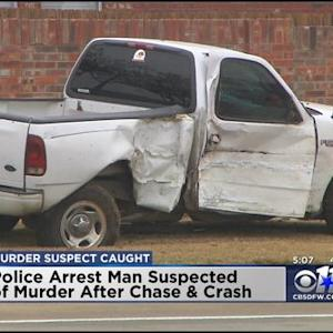 24-Hour Manhunt Ends After Truck Slams Into Police Cruiser