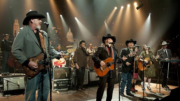 "Country music legends Willie Nelson and Asleep at the Wheel join forces onstage in celebration of their collaborative LP, Willie and the Wheel on ""Austin City Limits."""