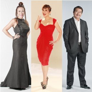 'PGT' judges Ai Ai delas Alas, Kris Aquino and Freddie Garcia (Courtesy of ABS-CBN)