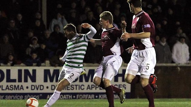 Adam Matthews, left, was delighted with his goal against Arbroath