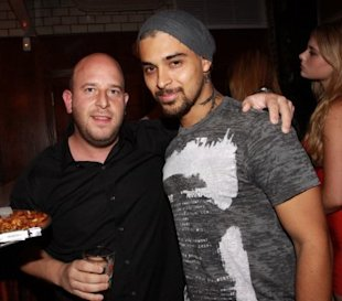 Wilmer with club promoter Noah Tepperberg at NYC's Avenue nightclub (Johnny Nunez/Wire Image)