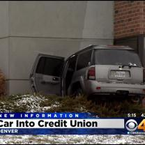 Car Crashes Into Credit Union