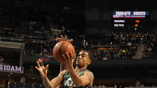 Burke's 20 points lift Jazz past Bobcats 88-85
