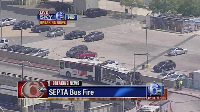 SEPTA bus catches fire at Penns Landing