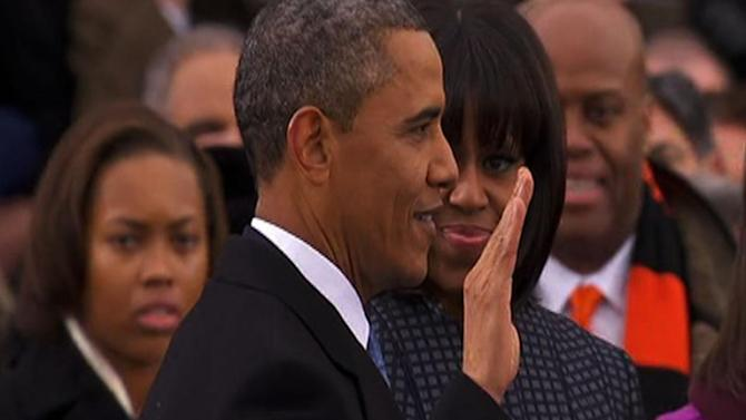 Thousands on hand as President Obama takes oath