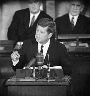 FILE - This Jan. 11, 1962 file photo shows President…