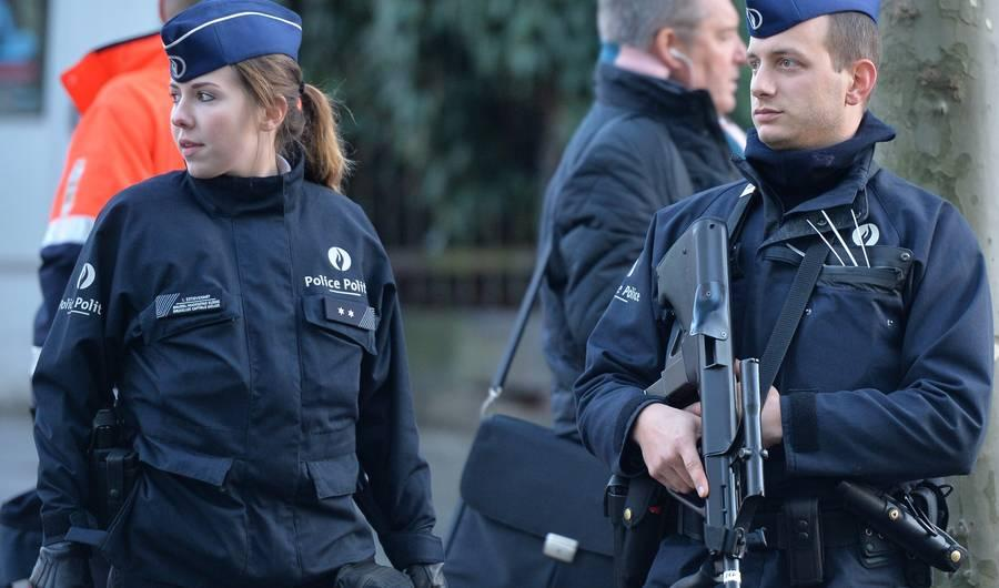 Emergency Responders Investigate White Powder at the Grand Mosque in Brussels