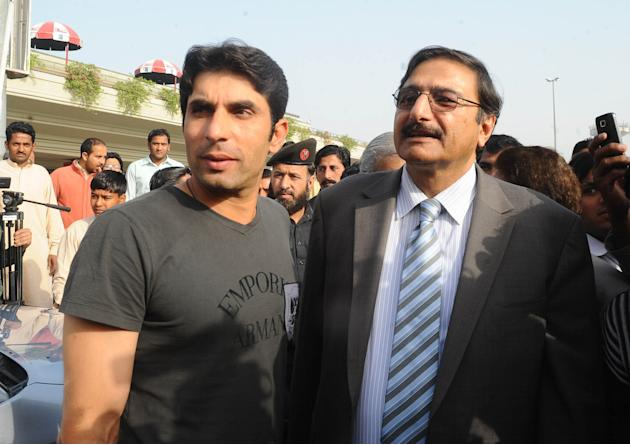 Misbah-ul-Haq and Zaka Ashraf