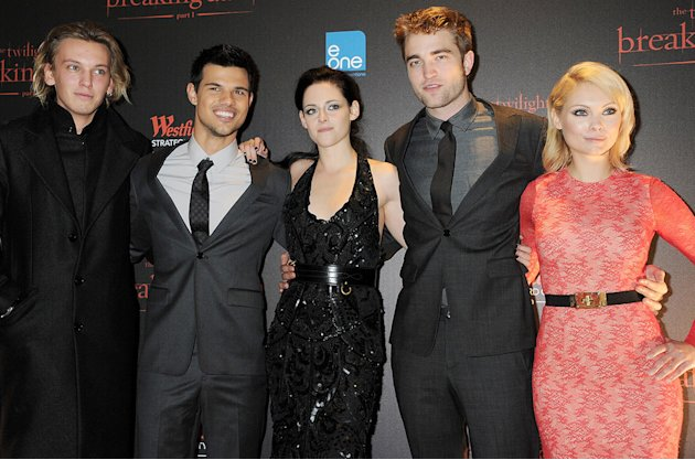 The Twilight Saga Breaking Dawn Part 1 2011 UK Premiere Jamie Campbell Bower Kristen Stewart Taylor Lautner Robert Pattinson MyAnna Buring