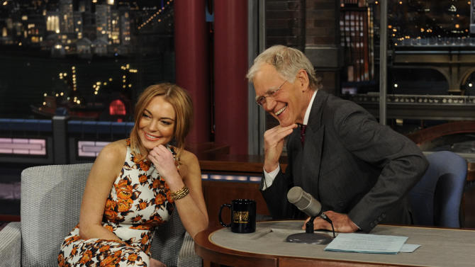 Lohan tells Letterman rehab is a 'blessing'