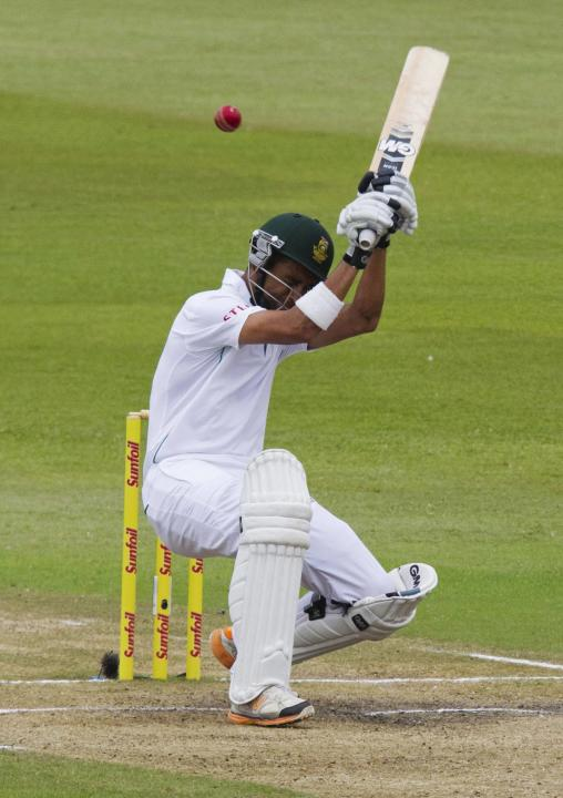 South Africa's Peterson ducks a short ball during the fourth day of the second test cricket match against India in Durban