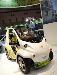 The Toyota Coms concept, on display at 2011 Tokyo Motor Show
