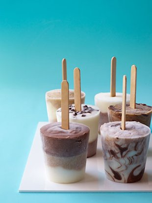 These quick and easy frozen treats can easily be made in small paper cups, no special equipment required.