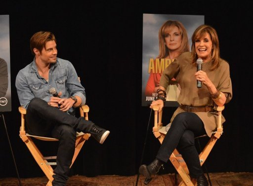 Actors Josh Henderson and Linda Gray