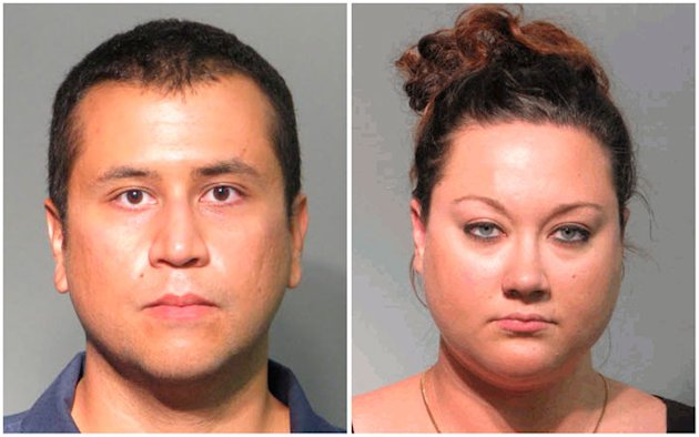 Undated police handout booking photos of George Zimmerman and his wife Shellie Zimmerman. REUTERS/John E. Polk Correctional Facility/Handout