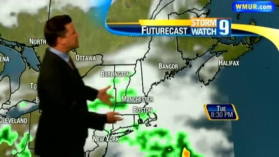 Showers possible Tuesday afternoon
