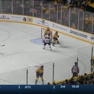 Mike Fisher Hit on Reilly Smith (10:09/2nd)