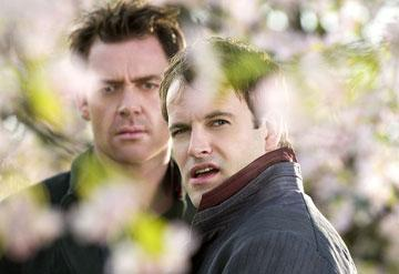 Marton Csokas and Jonny Lee Miller in Paramount Pictures' Aeon Flux