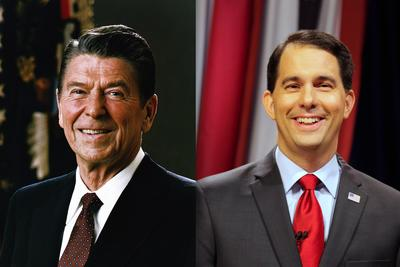 Scott Walker loves Ronald Reagan more than seems humanly possible