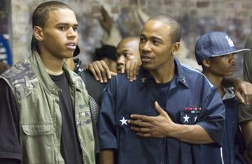 Chris Brown and Columbus Short in Columbia Pictures' Stomp the Yard
