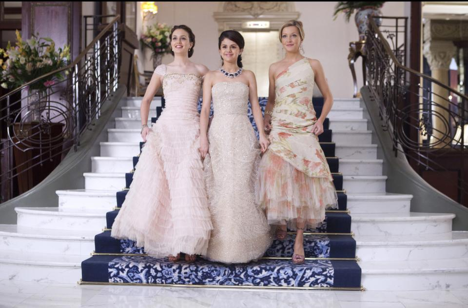"In this film publicity image released by 20th Century Fox, from left, Leighton Meester, Selena Gomez and Katie Cassidy are shown in a scene from ""Monte Carlo."" (AP Photo/20th Century Fox, Larry Horricks)"