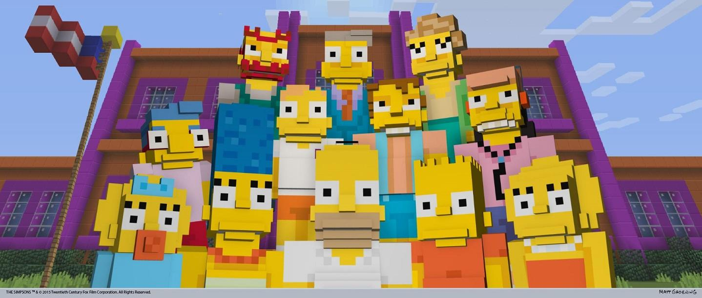 The Simpsons Come to Minecraft Today on Xbox, Possibly Later for PlayStation