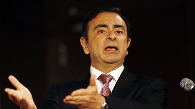 Nissan Motor Co. Chairman Carlos Ghosn answers reporters' questions during a news conference in Seoul, South Korea, Friday, July 20, 2012. French-Japanese auto alliance of Renault and Nissan is investing $160 million in its South Korean Renault Samsung Motors to produce Nissan-branded vehicles mostly destined for the United States, taking advantage of the South Korea-U.S. free trade agreement and a more favorable exchange rate. (AP Photo/Lee Jin-man)