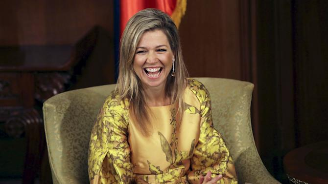 Queen Maxima of the Netherlands visits the presidential palace in Manila