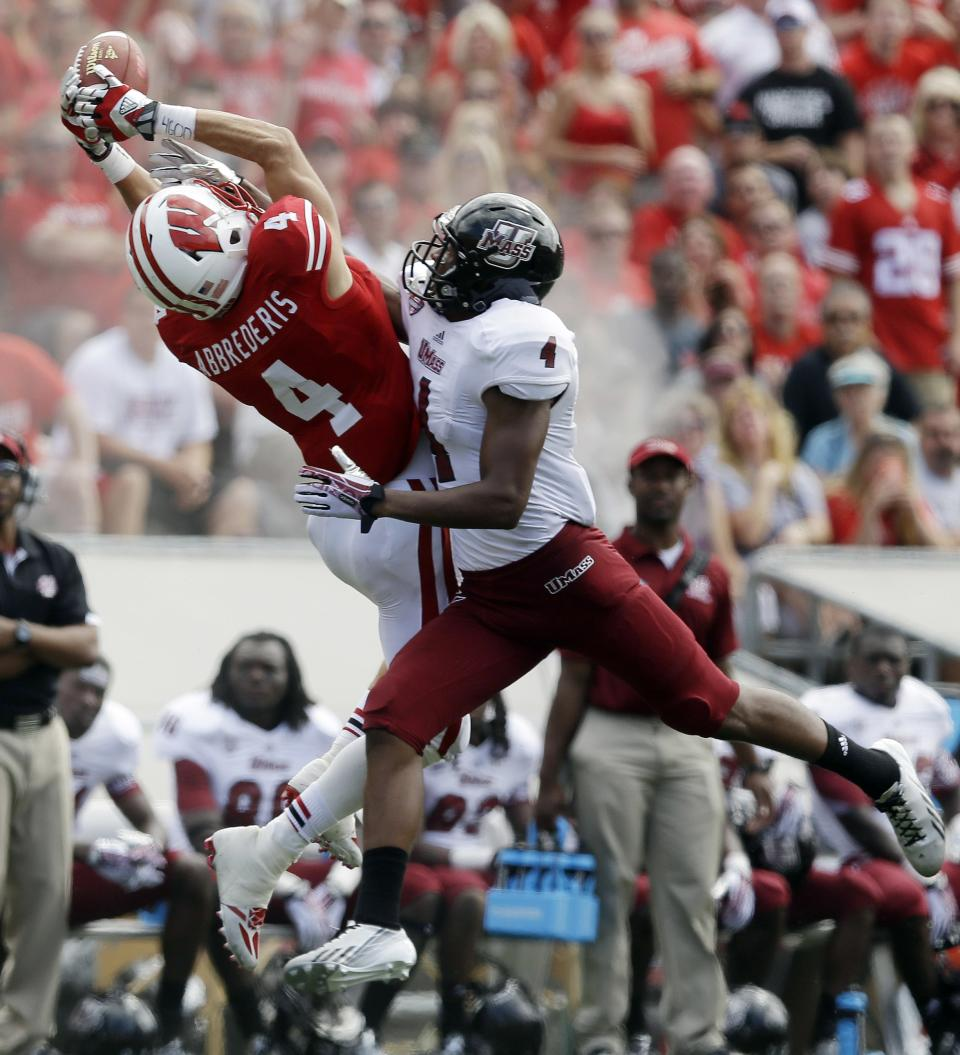 No. 23 Wisconsin stifles UMass 45-0 in opener