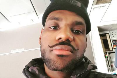 LeBron James curled his mustache, might be a villain now