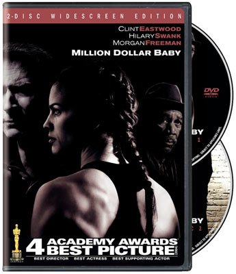 The box art from the DVD release of Warner Bros. Pictures' Million Dollar Baby