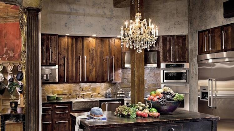 Celebrity kitchens from Architectural Digest gerard butler