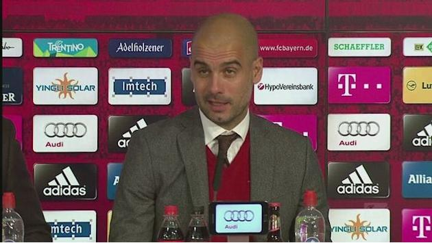 "Guardiola says Bayern ""not good enough"" despite 5-0 win"