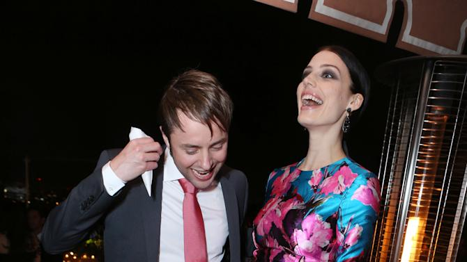 Vincent Kartheiser and Jessica Pare at the AMC Season 6 Premiere of Mad Men , on Wednesday, March, 20, 2013 in Los Angeles. (Photo by Alexandra Wyman/Invision for AMC/AP Images)